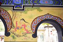 寺庙墙绘人物图片