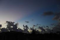 天空变幻黑云