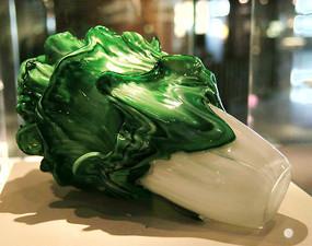 玻璃艺术品绿色白菜