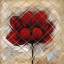 花卉油画壁画背景墙