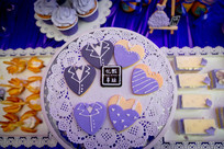 紫色主题婚礼喜饼