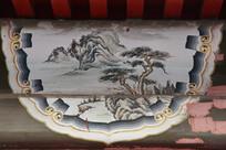 房梁画水墨松树
