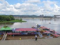 江河码头风景图片