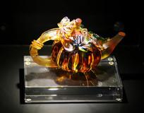 玻璃工艺品茶壶摆件