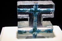 玻璃工艺品封冻管道摆件