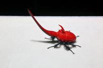 玻璃工艺品红色甲虫