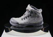 玻璃工艺品灰色登山鞋