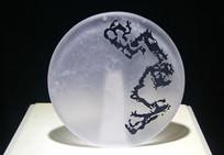 玻璃工艺品龙纹摆件