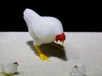 玻璃工艺品母鸡