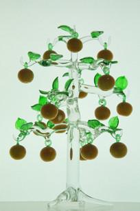 玻璃工艺品苹果树