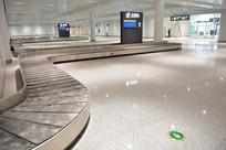 飞机场行李提取处行李传送履带