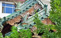 琉璃鸱吻古建筑图片