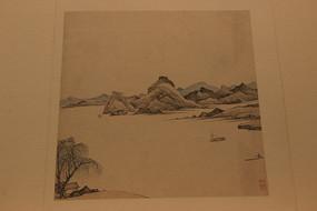 清代弘仁山水画册