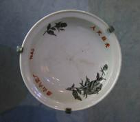 七十年代花卉图案瓷盘