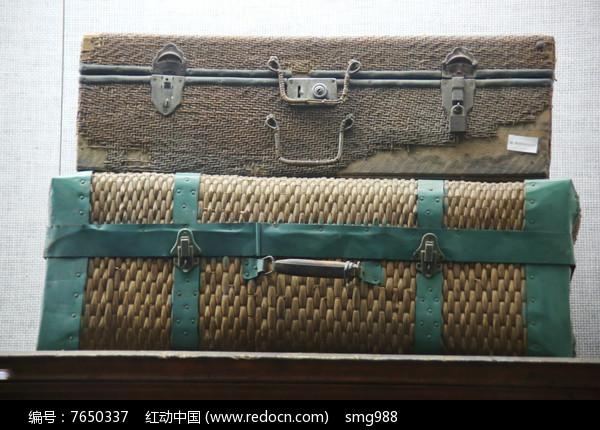 七十年代藤编箱子图片