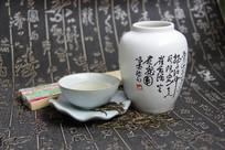 茶艺折扇茶具