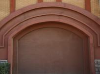 拱形红门背景墙