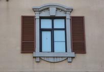 欧式窗户背景墙