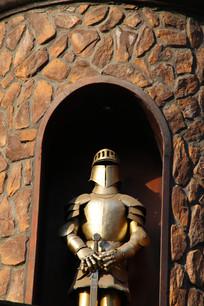 铜雕欧洲铠甲骑士