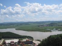 江河自然风景图片