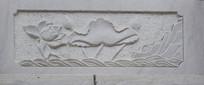 水纹和莲花图案雕刻