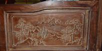 中国画木板浮雕图片