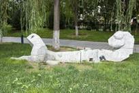 画蛇添足艺术雕塑