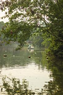湖面的小船