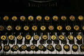 老式打字机字母键盘