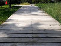 木板铺设的道路