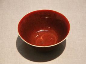 清代郎红窑瓷碗