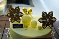 圣诞雪花造型蛋糕