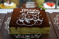 圣诞雪人图案蛋糕