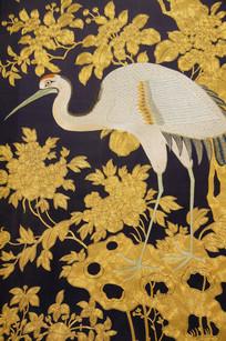 丝织白羽毛孔雀