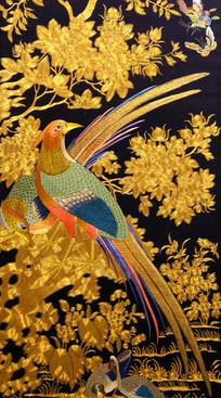 丝织凤凰图形