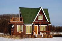 造型独特欧式木屋
