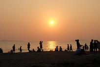 海滩及晚霞