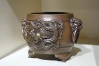 龙纹环耳铜香炉