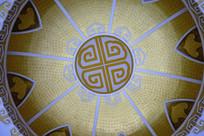 蒙古族风格图案的穹顶