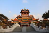 蓬莱仙岛楼阁与拱桥