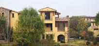 别墅建筑摄影图