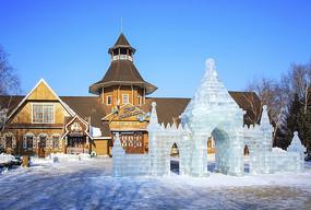 冰灯城堡东北冬季