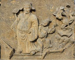 古装人物石雕展示