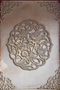 花卉图案雕刻图片