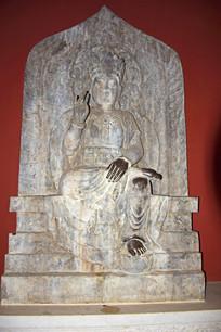 天冠弥勒佛像雕刻