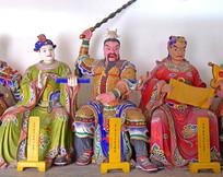 形象的神话人物雕像-太岁神