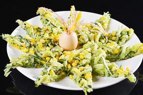 玉米黄瓜鸡蛋饼
