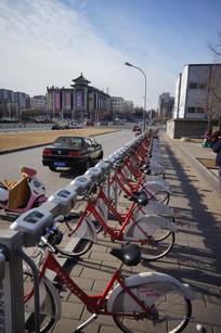 北京街头的公租自行车