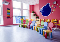 可爱的儿童培训教室
