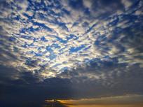蓝天云层夕阳